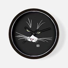 Cute Cat face Wall Clock