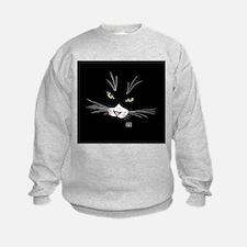 Cool Cat face Sweatshirt