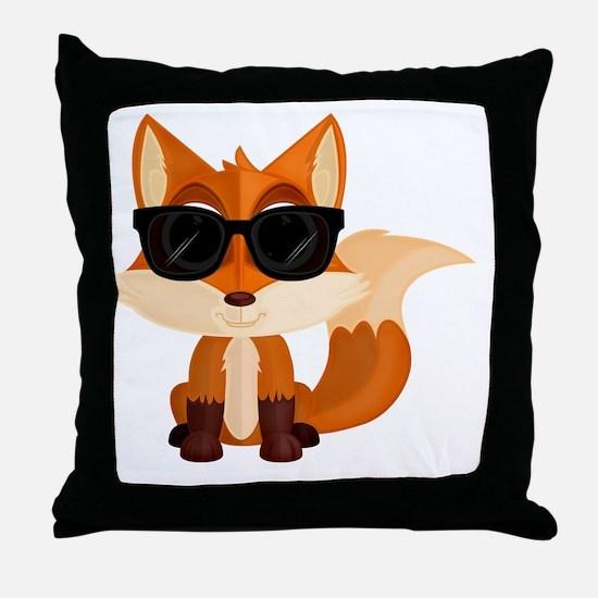 Unique Cute fox Throw Pillow