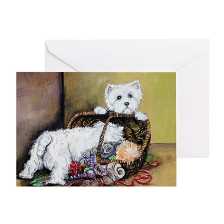 Westhighland Terrier Toys Greeting Card