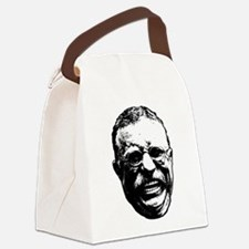 Laughing Teddy Canvas Lunch Bag