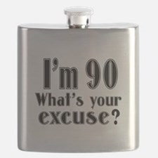 I'm 90 What is your excuse? Flask