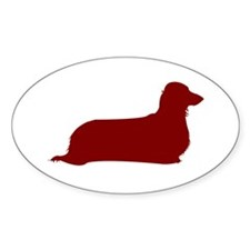 Just L. Doxie (Red) Oval Decal