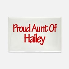 Proud Aunt of Hailey Rectangle Magnet