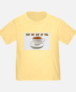 Not My Cup Of Tea Kids Yellow T