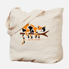 Funny Abstract cat Tote Bag