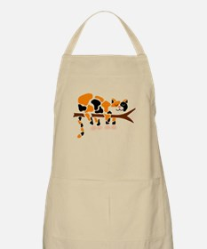 Calico Cat in Tree Apron