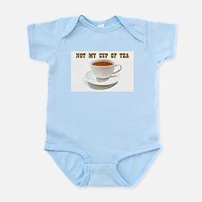 Not My Cup Of Tea Light Blue Infant Body Suit
