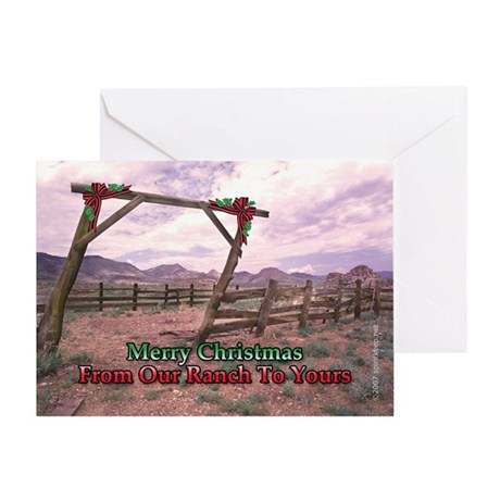 Ranch Christmas Greeting Card