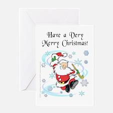 Dancing Santa Christmas Greeting Card
