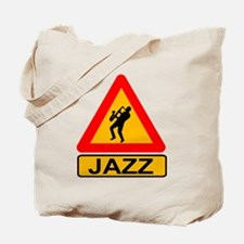 Jazz Caution Sign Tote Bag