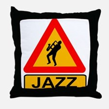 Jazz Caution Sign Throw Pillow