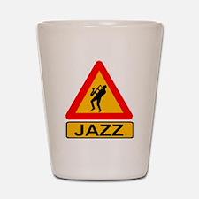 Jazz Caution Sign Shot Glass