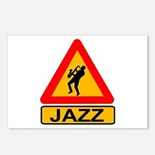 Jazz Caution Sign Postcards (Package of 8)