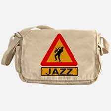 Jazz Caution Sign Messenger Bag