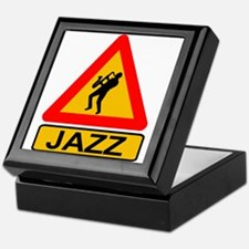 Jazz Caution Sign Keepsake Box