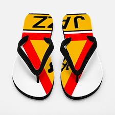Jazz Caution Sign Flip Flops