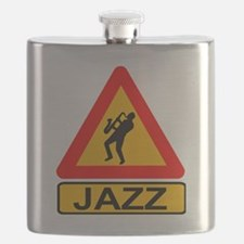 Jazz Caution Sign Flask