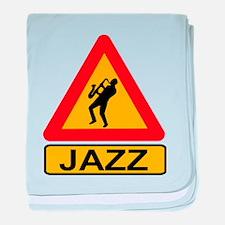 Jazz Caution Sign baby blanket