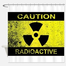 Caution Radioactive Sign Shower Curtain