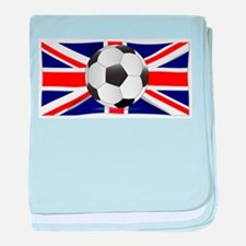 British Flag and Football baby blanket