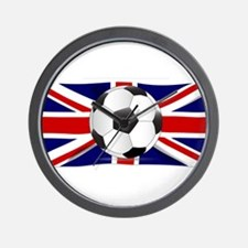 British Flag and Football Wall Clock