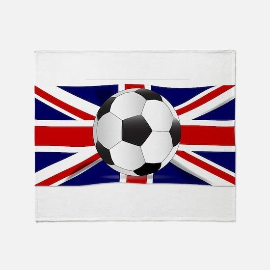 British Flag and Football Throw Blanket
