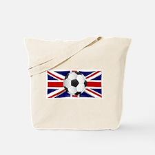 British Flag and Football Tote Bag