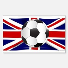 British Flag and Football Decal