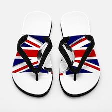 British Flag and Football Flip Flops