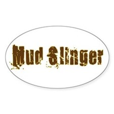 Mud Slinger Oval Decal