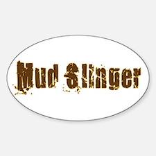 Mud Slinger Oval Decal