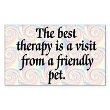 Best Therapy is a Visit Rectangle Decal