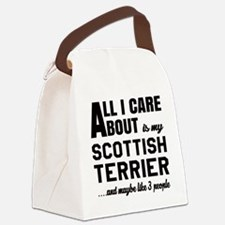 All I care about is my Scottish T Canvas Lunch Bag