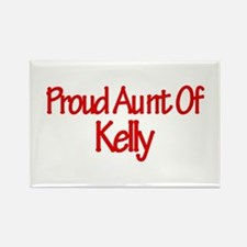 Proud Aunt of Kelly Rectangle Magnet