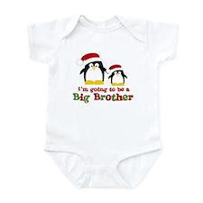 penguin big brother surprise Infant Bodysuit