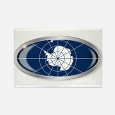 Antarctica Flag Oval Button Magnets
