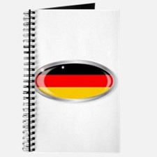 German Flag Oval Button Journal