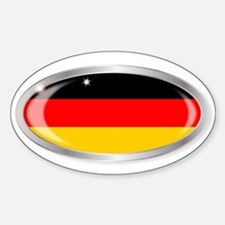 German Flag Oval Button Decal