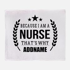 Gifts for Nurses Personalized Throw Blanket