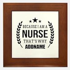 Gifts for Nurses Personalized Framed Tile