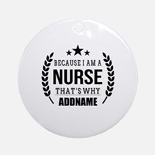 Gifts for Nurses Personalized Round Ornament