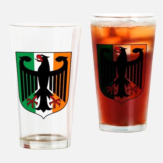 Patriotic German Irish Heritage Drinking Glass