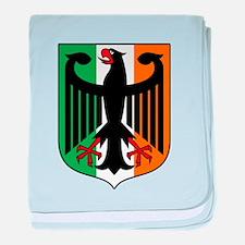 Patriotic German Irish Heritage baby blanket