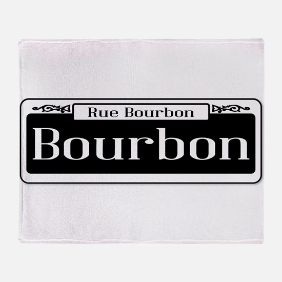 Rue Bourbon Street Sign Throw Blanket