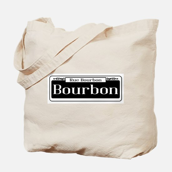 Rue Bourbon Street Sign Tote Bag