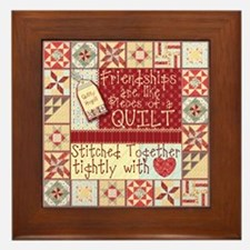 Friendships Are Like Quilts Framed Tile