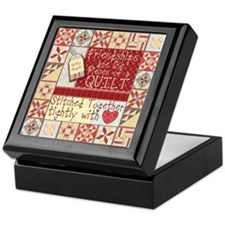 Friendships Are Like Quilts Keepsake Box