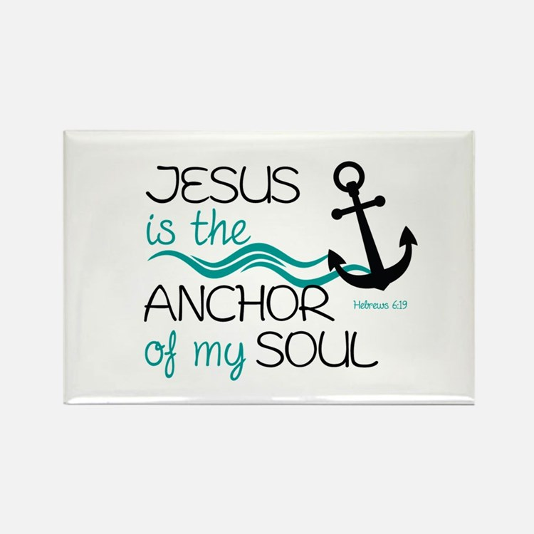 Jesus is the Anchor Rectangle Magnet