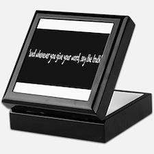Say The Truth Keepsake Box